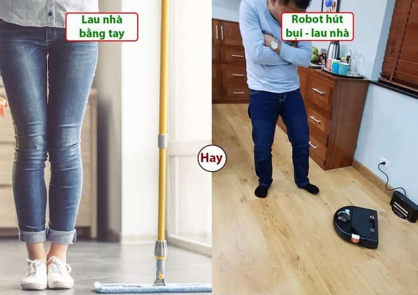 Có nên mua robot hút bụi lau nhà