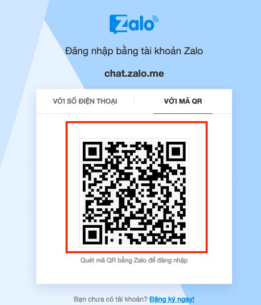 Quét mã QR Code của Zalo bằng điện thoại