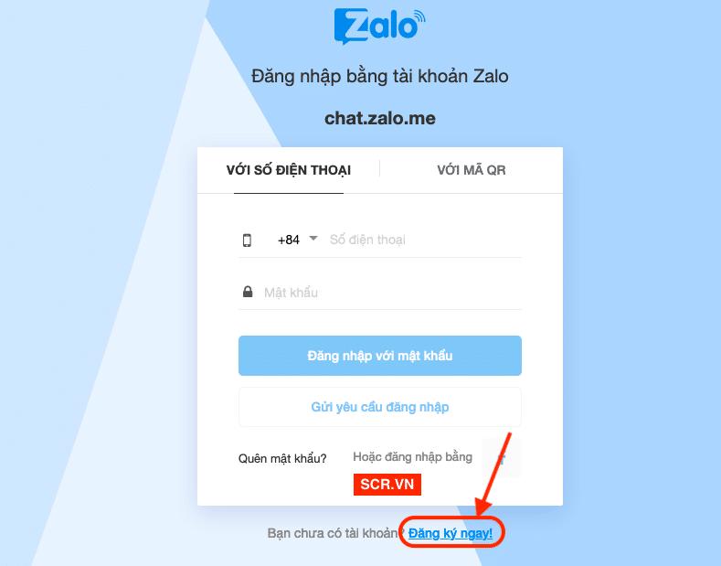 Cách đăng ký zalo trên máy tính