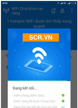 Báo hack wifi thành công