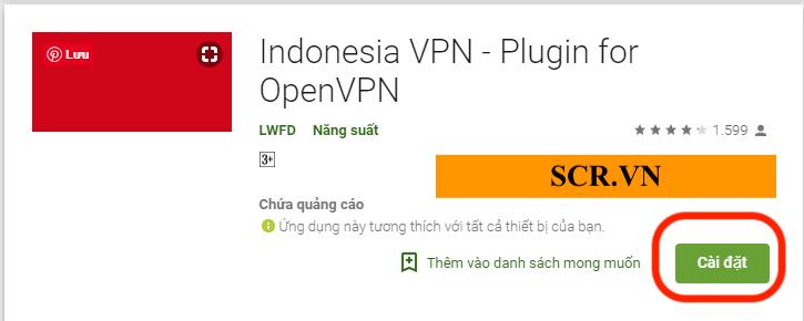 Cài đặt Indonesia VPN cho Android