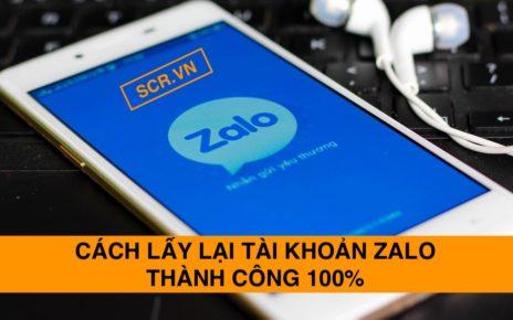 Cách lấy lại tài khoản Zalo thành công 100%