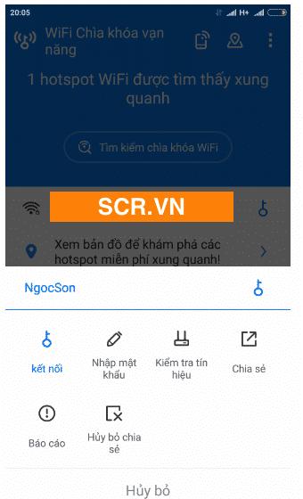 Chọn mạng wifi kết nối
