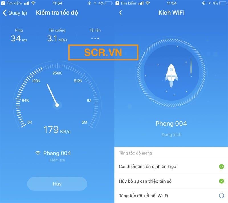 Kiểm tra tốc độ wifi
