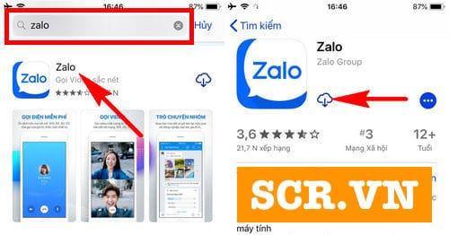 Tìm Zalo trên App Store