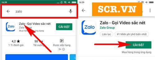 Tìm kiếm Zalo
