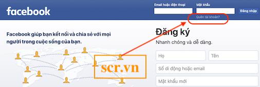 Đăng nhập facebook trên máy tính