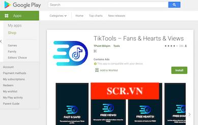 App TikTools Trên Android