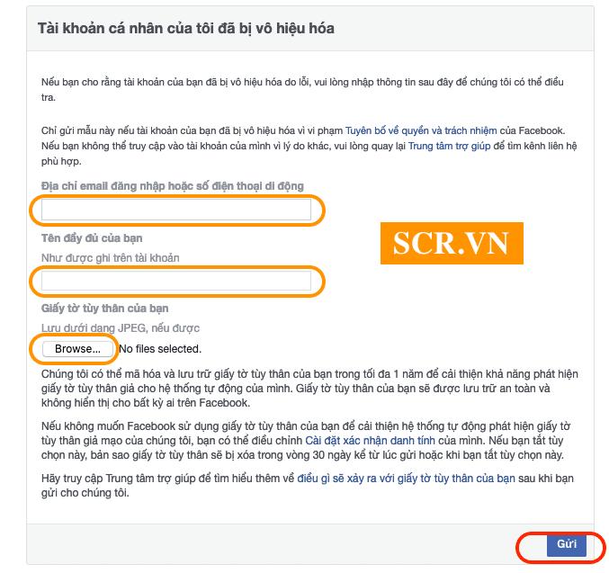 Cách Lấy Lại Facebook Bị Vô Hiệu Hoá