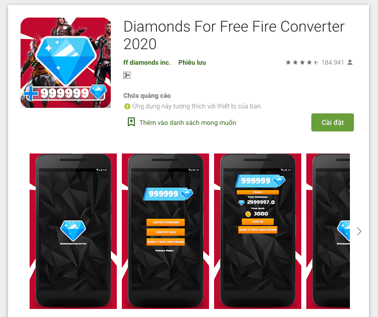 Diamond For Free Fire Converter trên Android
