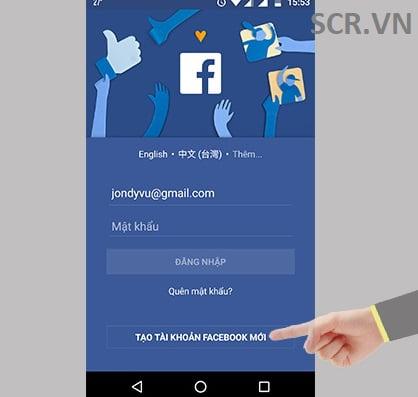 tạo tài khoản fb trên điện thoại