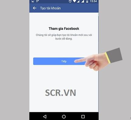 đăng ký fb trên điện thoại