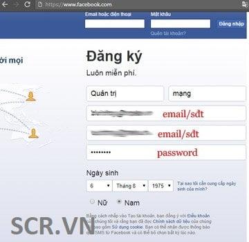 tạo tài khoản fb trên máy tính
