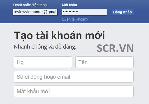 Facebook đăng nhập