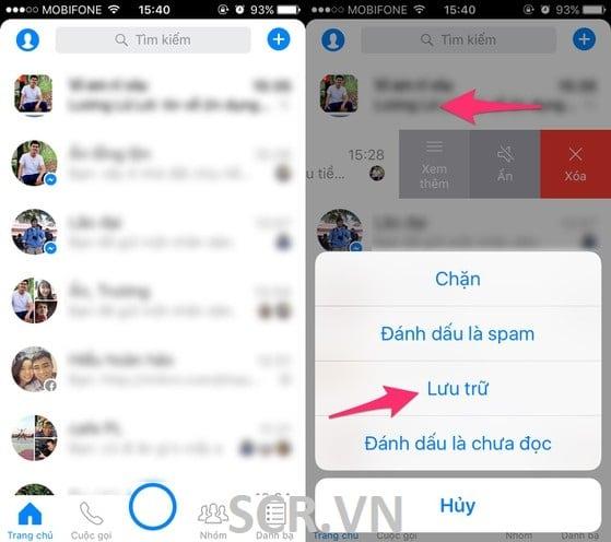 Ẩn TN Messenger Trên Iphone