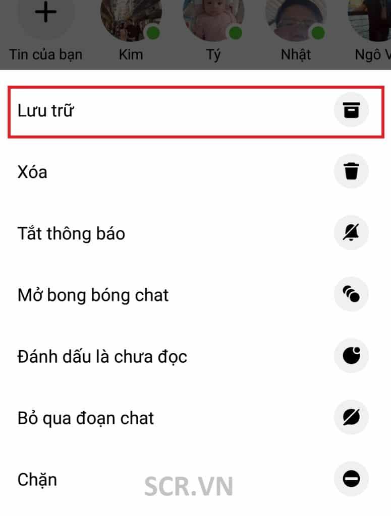 Ẩn Tin Nhắn Messenger Trên Android