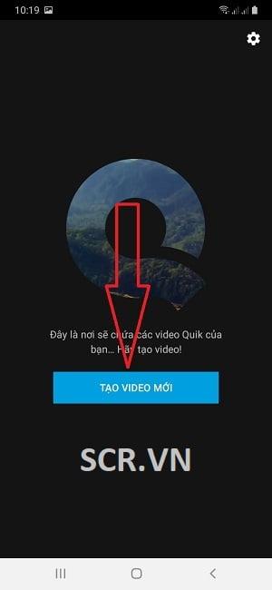 Tạo video mới để bắt đầu làm video ảnh mới với Quik.