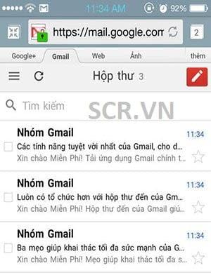 đăng ký gmail trên điện thoại