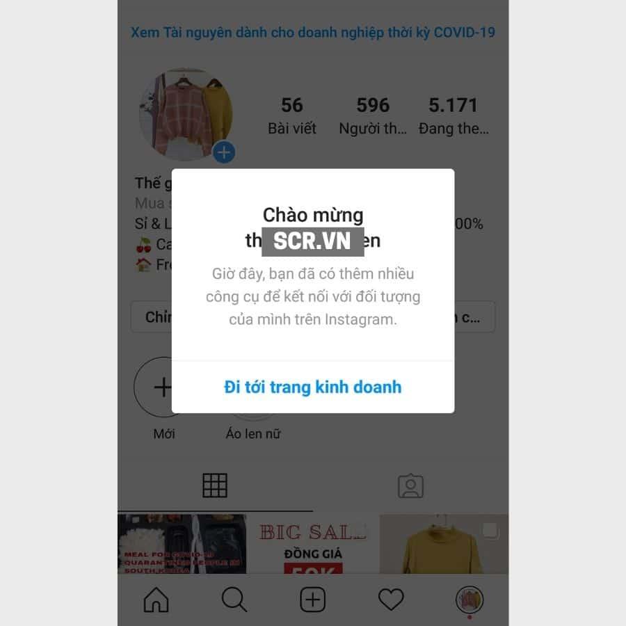 tạo tài khoản instagram cho doanh nghiệp 5