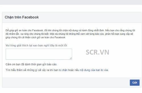 Gửi Phản Hồi Đến Facebook Yêu Cầu Hỗ Trợ Mở Khóa