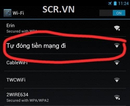 Tên Wifi Độc