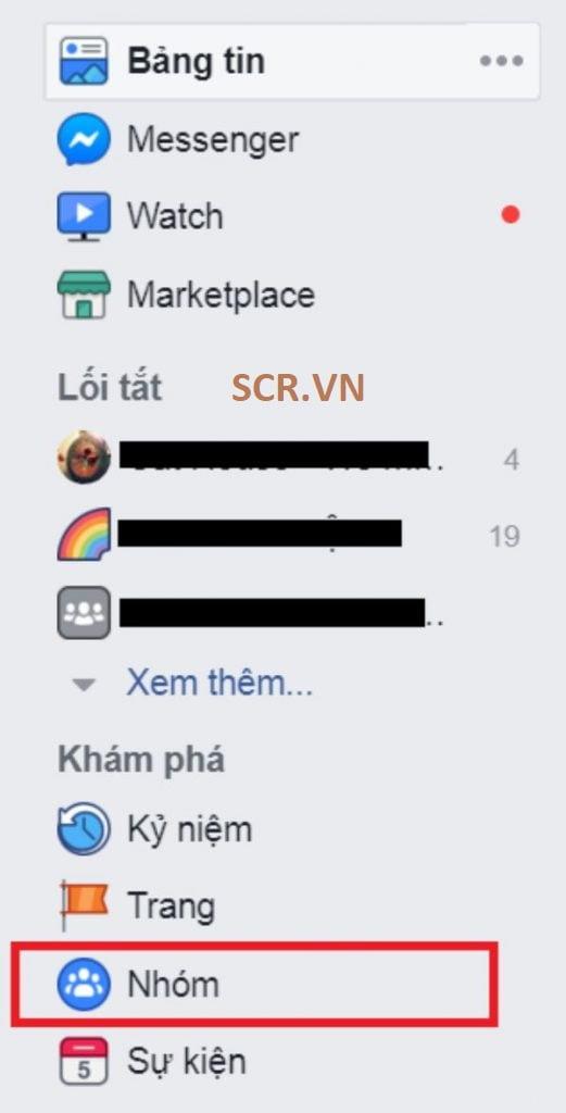 xóa nhóm facebook trên máy tính