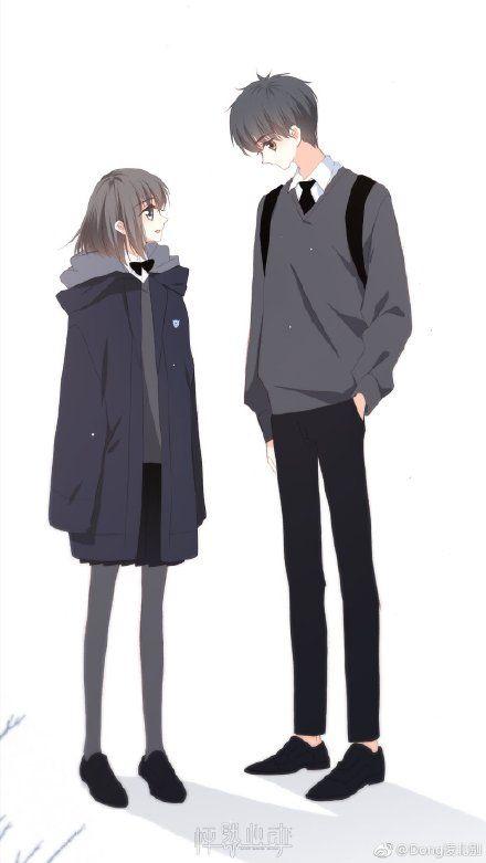 Ảnh đôi học sinh Anime cute