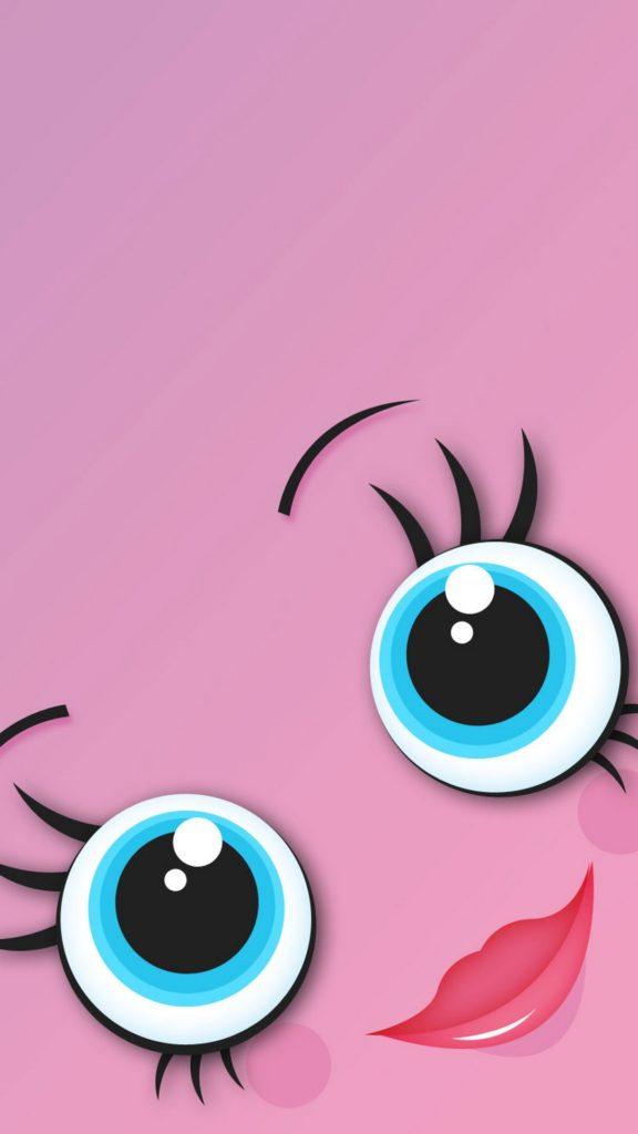 Ảnh nền màu hồng cute đáng yêu