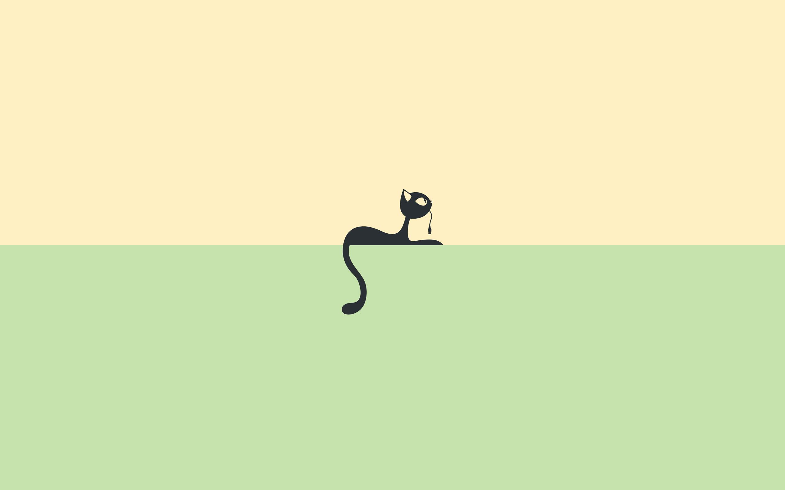 ảnh nền tối giản chú mèo đen
