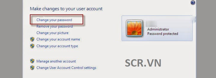 Đặt Mật Khẩu Cho Máy Tính Chạy Windows 7
