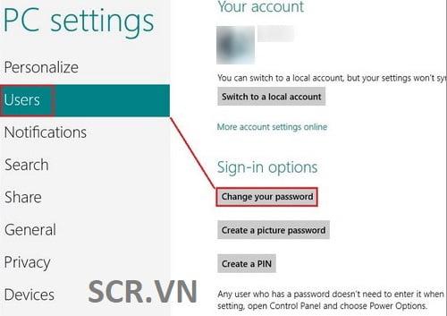 Cách Đặt Pass Cho Máy Tính Windows 8