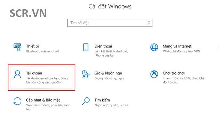 Cài MK Cho Máy Tính Windows 10