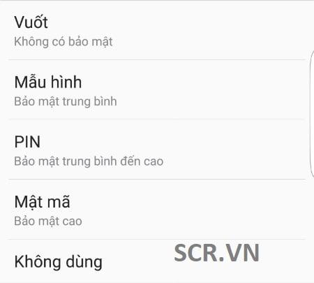 Cài Đặt Mật Khẩu Cho Điện Thoại Samsung