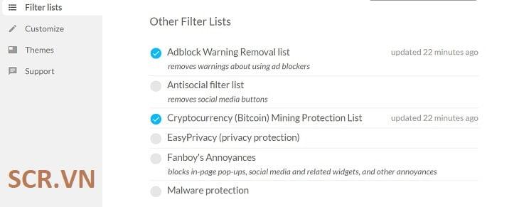 Sử Dụng Tiện Ích Mở Rộng AbBlock chặn quảng cáo