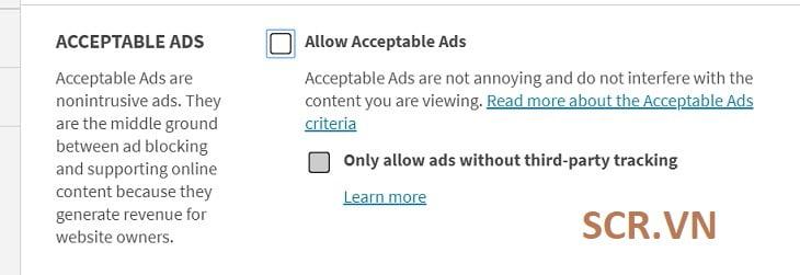 Sử Dụng Menu Settings Trên Điện Thoại chặn quảng cáo