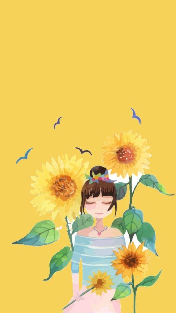 Background xinh hoa hướng dương