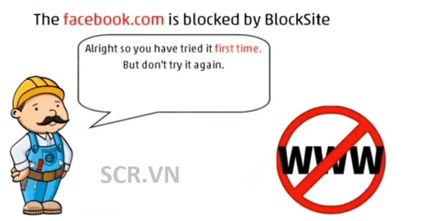 Cách chặn web bằng block site