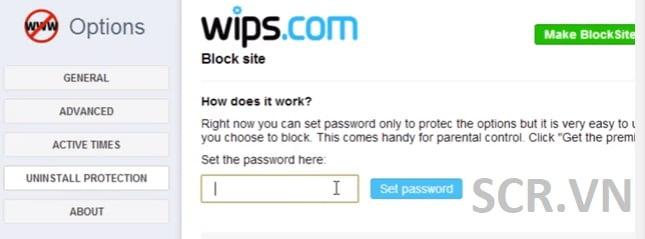 Cách chặn trang web bằng block site