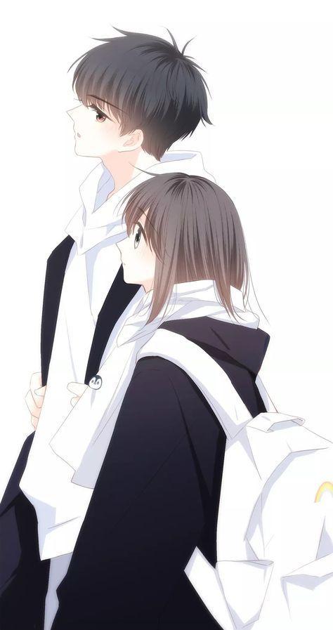 Cặp đôi học sinh dễ thương