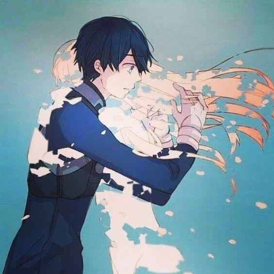 Hình Anime cặp đôi buồn khóc
