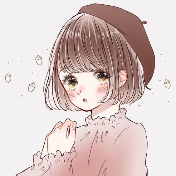 Hình avatar cô gái tóc ngắn dễ thương