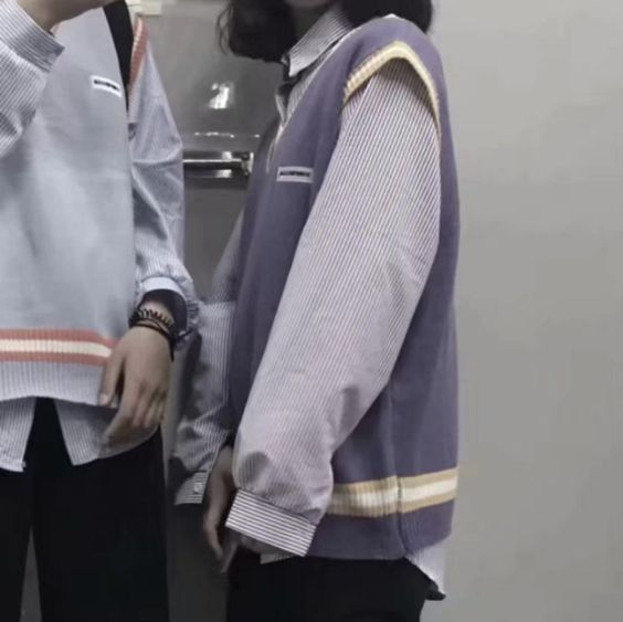 Hình avt đôi người thật Hàn Quốc cute