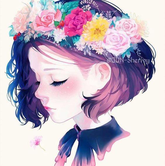 Hình avt đẹp cô gái tóc ngắn dễ thương