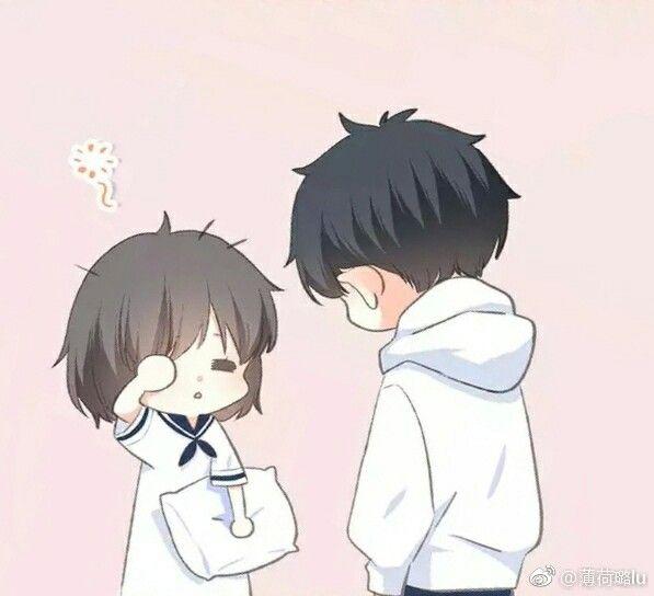 Hình cặp đôi Anime Chibi