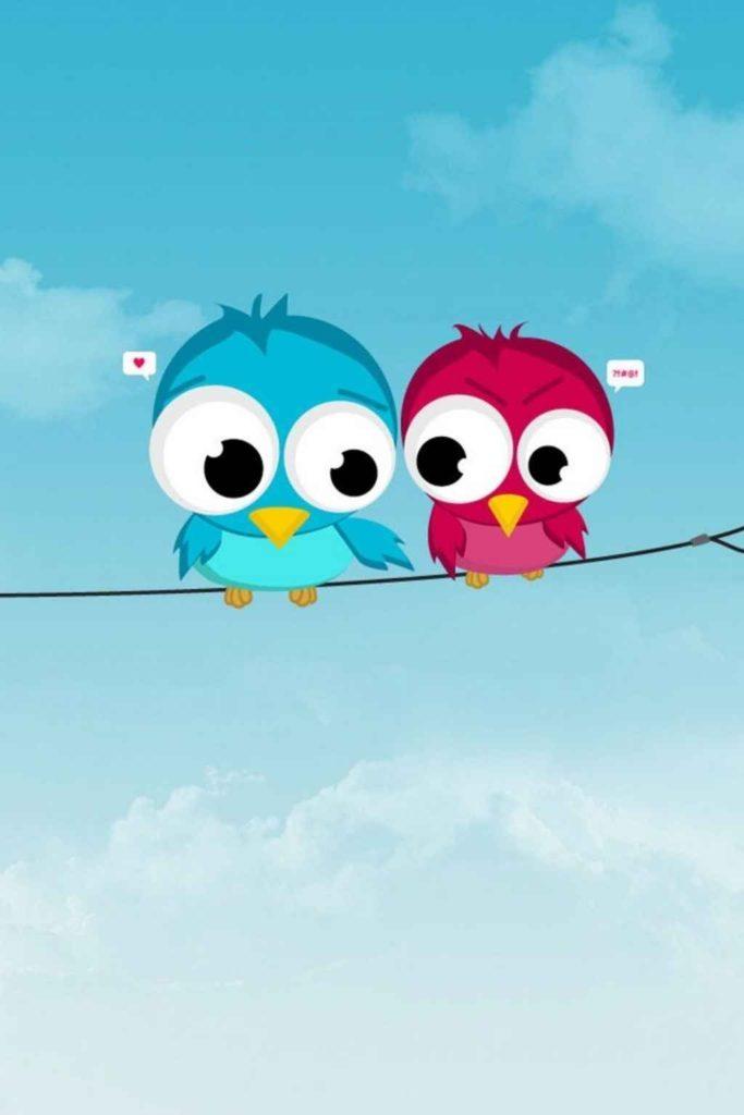 Hình nền 2 chú chim cute