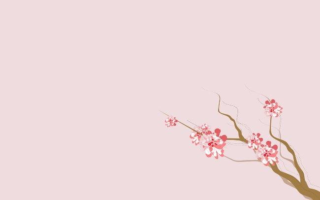 Hình nền PP đơn giản màu hồng