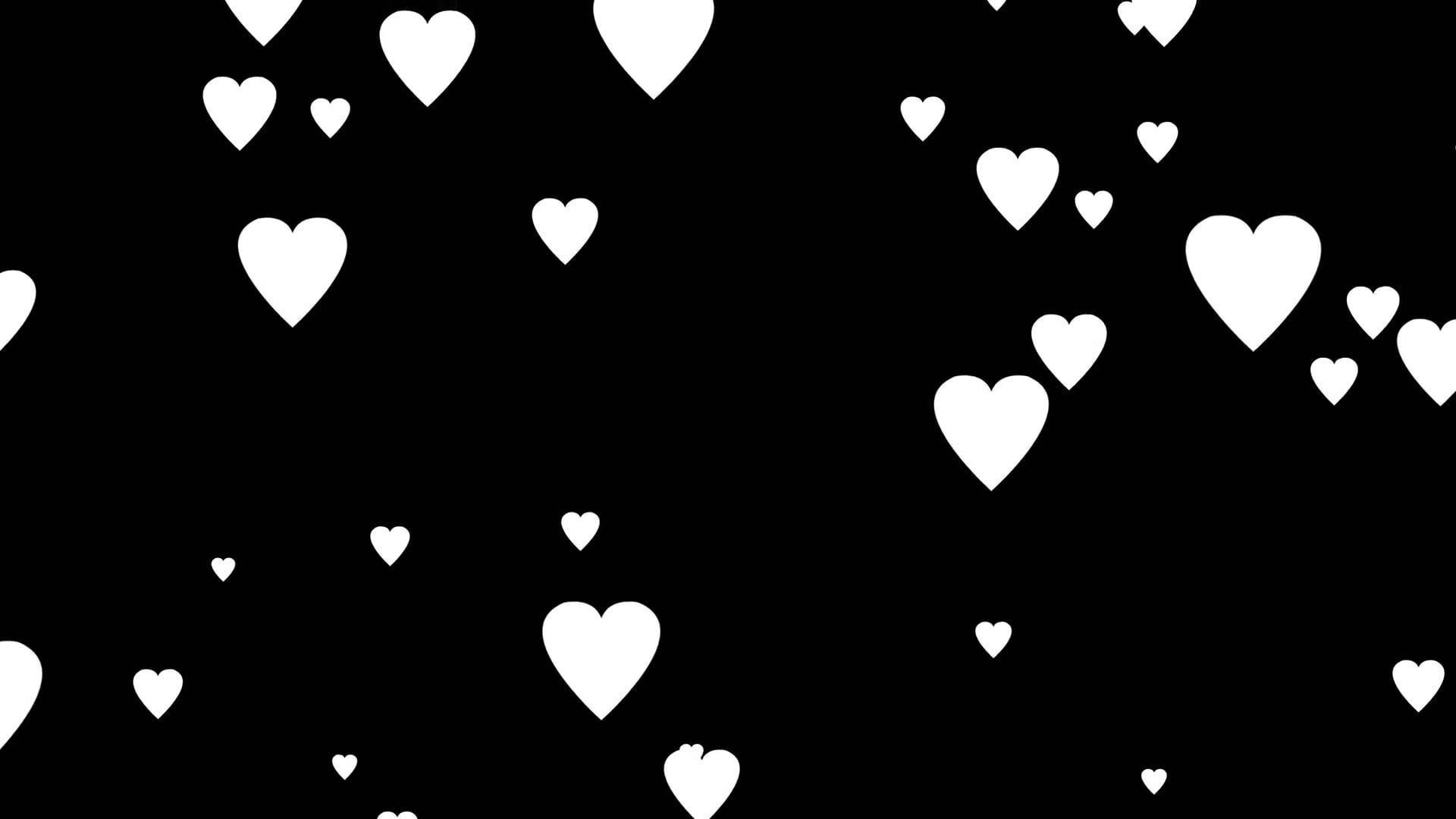 Hình trái tim đen trắng