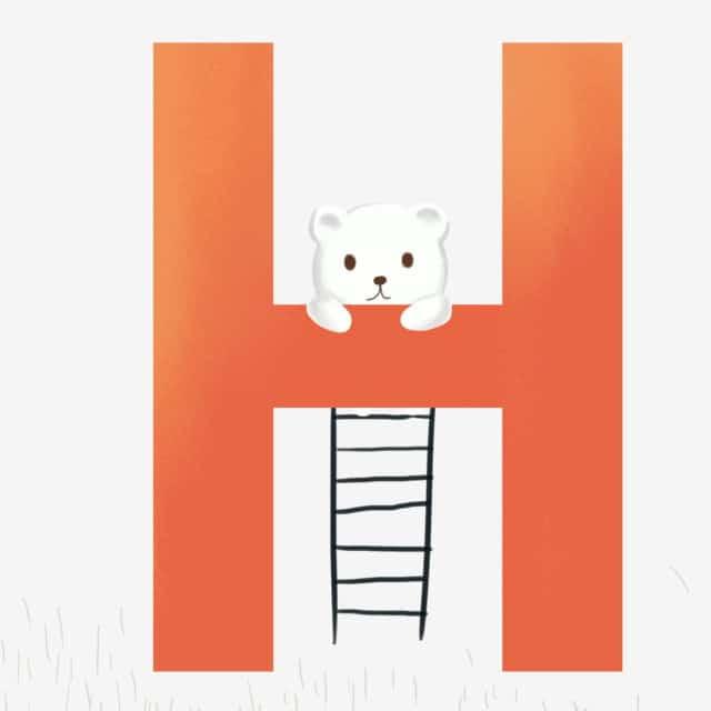 Nền chữ H cute