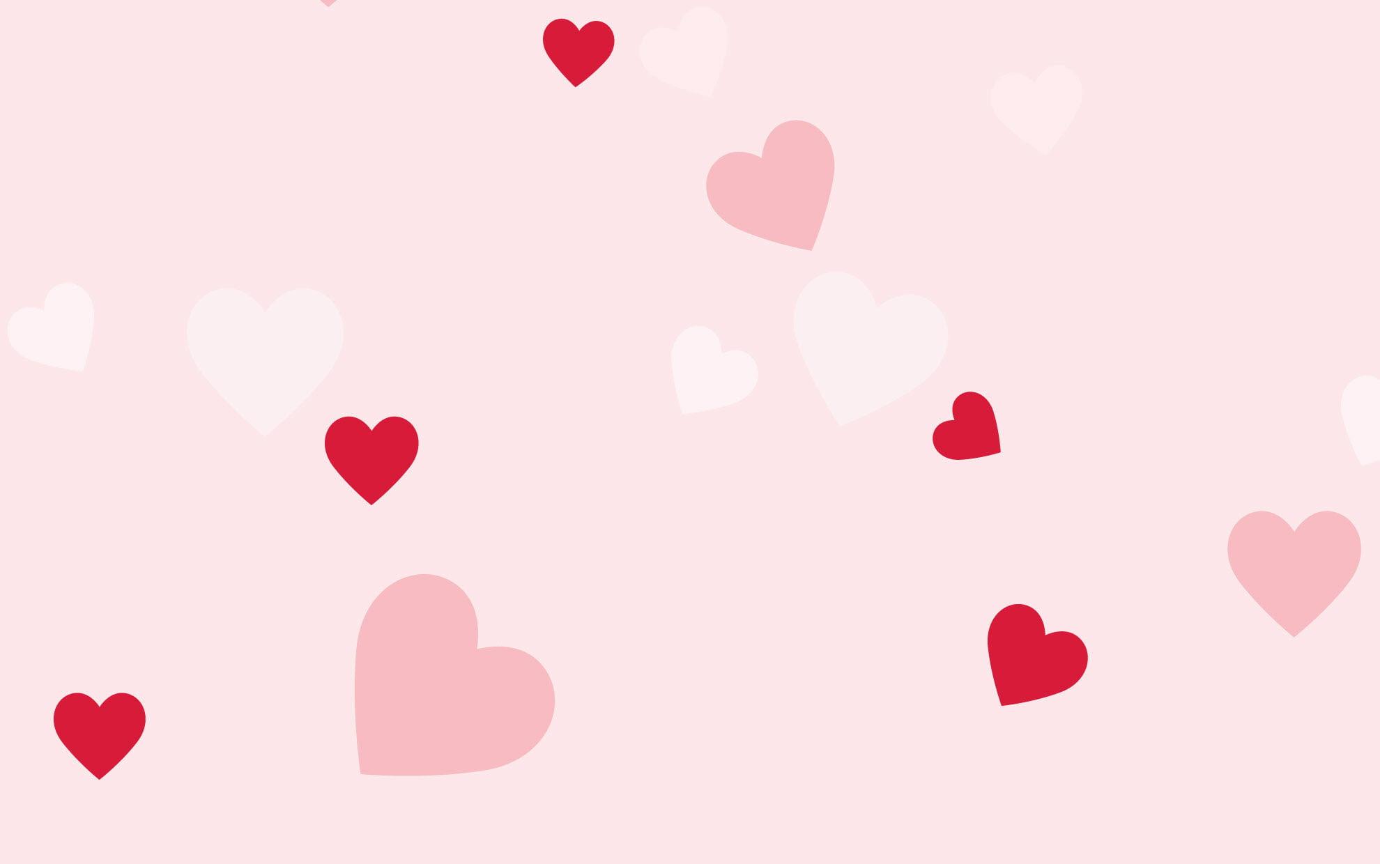 hình nền cute trái tim