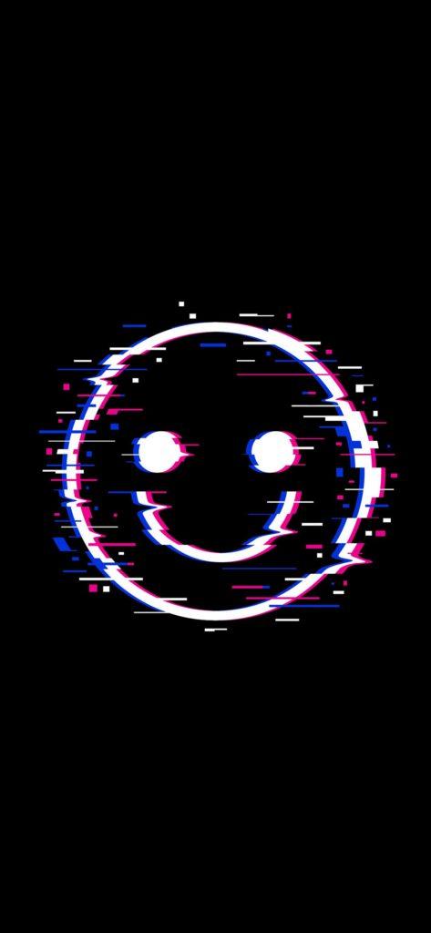 hình nền mặt cười trắng
